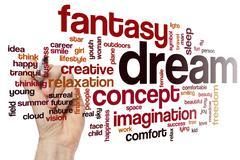 Imagination word cloud concept - stock illustration