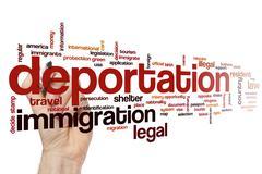 Deportation word cloud concept Stock Illustration