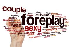 Foreplay word cloud concept Stock Illustration