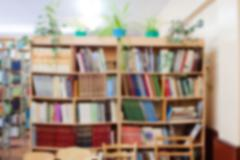 library in the school - stock photo