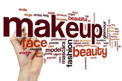 Makeup word cloud concept Stock Illustration