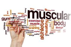 Muscular word cloud concept - stock illustration