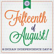 Stock Illustration of Elegant typographic Indian Independence Day card in vector format..