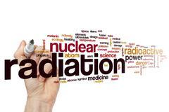 Radiation word cloud concept Stock Illustration