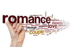 Romance word cloud concept - stock illustration