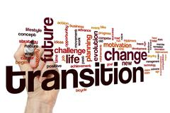 Transition word cloud concept - stock illustration