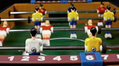 Table soccer detail action audio Stock Footage
