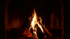 Near fireplace - stock footage
