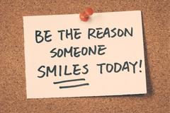 be the reason someone smiles today - stock photo