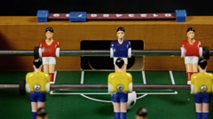 Table soccer detail raw Stock Footage