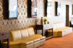Abstract hotel lobby blurred background - stock photo