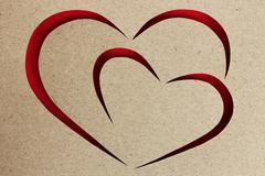 heart love symbol paper design - stock photo