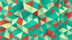 Geometric 3D render polygonal surface seamless loop animation Stock Footage