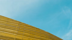 Woody Structure and Fast Clouds Stock Footage
