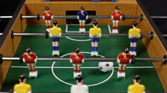 Table soccer low match audio Stock Footage