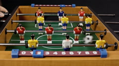 Table soccer low score Stock Footage