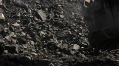 Coal bucket scoops Stock Footage