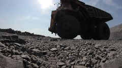 Truck carrying coal from the career field Stock Footage