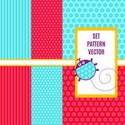 geometry vector seamless pattern - stock illustration