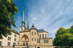 Notre-Dame Cathedral, Luxembourg is the Roman Catholic Cathedral Stock Photos