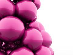 Many balloons rendered Stock Illustration