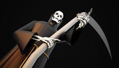 Grim Reaper rendered - stock illustration