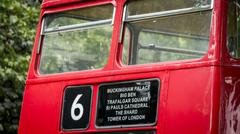 Red London Double Decker Bus - stock photo