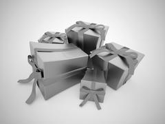 Christmas present with ribbon Stock Illustration