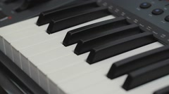 Musical Instrument. Equipment. Keyboards, piano synthesizer. Midi Stock Footage
