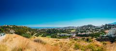 Panoramic View Of Mijas city In Malaga, Andalusia, Spain. Villag Stock Photos