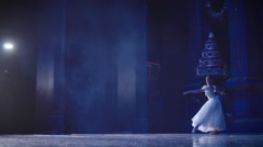 Stock video footage classical ballet ballerina on pointe - stock footage