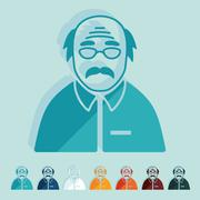 Flat design: senior citizens Stock Illustration