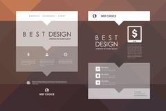 Set of brochure, poster design templates in abstract style - stock illustration