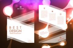 Stock Illustration of Set of brochure, poster design templates in neon molecule structure style