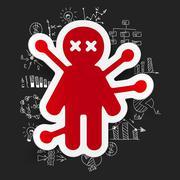 Drawing business formulas: voodoo Doll Stock Illustration