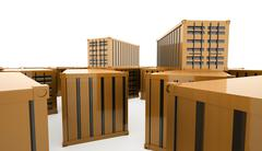 Containers concept rendered Stock Illustration