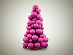 Abstract christmas tree concept - stock illustration