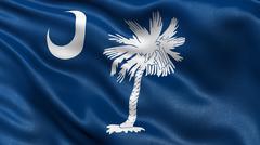 US state flag of South Carolina Stock Photos