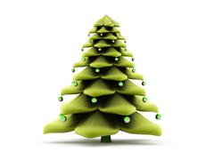 Abstract christmas tree concept Stock Illustration