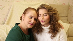 Mother and daughter talk. Stock Footage