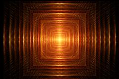 "Fractal image ""Light at the end of the tunnel"" - stock illustration"