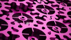 Gears mechanism concept - stock illustration