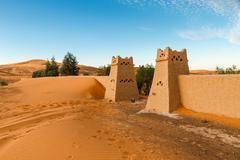 The berber camp in Sahara desert, Morocco Stock Photos