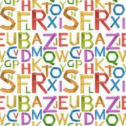 Seamless english alphabet a to z Stock Illustration