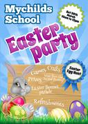 Cartoon Easter Bunny Invite Stock Illustration