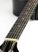Fretboard of guitar - stock photo