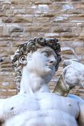 The famus David sculpture in Florence (Italy) Stock Photos