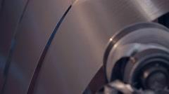 sheet metal rolling 1 - stock footage
