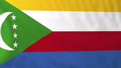 Flag of Comoro Islands waving in the wind. - stock footage
