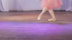 Ballet single feet Stock Footage